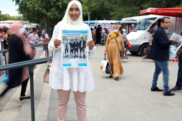 हिजाब के लिये फ्रांस के राष्ट्रपति से भिड़ी युवती, मेक्रोन की हुई किरकिरी